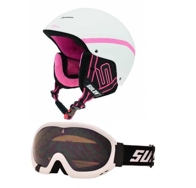 Bílá lyžařská helma Sulov