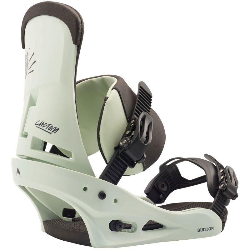 Zelené vázání na snowboard Burton - velikost L