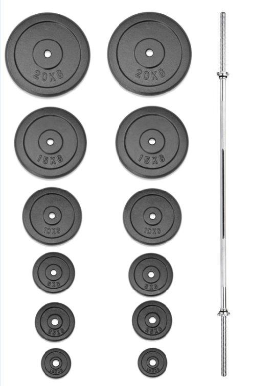 Činkový set - TRINFIT nakládací činka PREMIUM 115 kg kovová