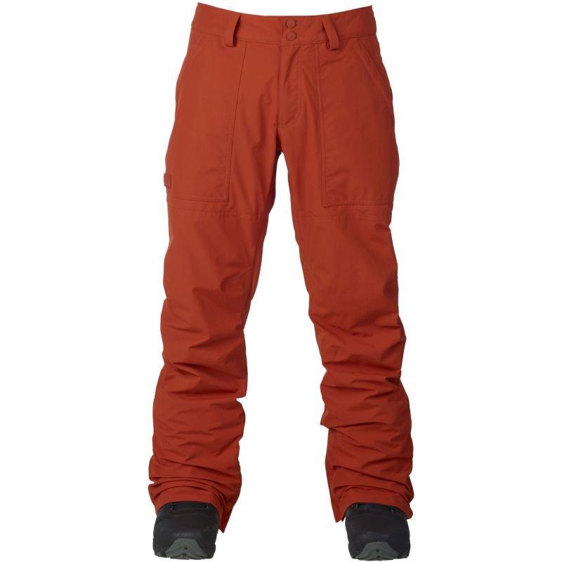 Hnědo-oranžové pánské snowboardové kalhoty Burton - velikost XL