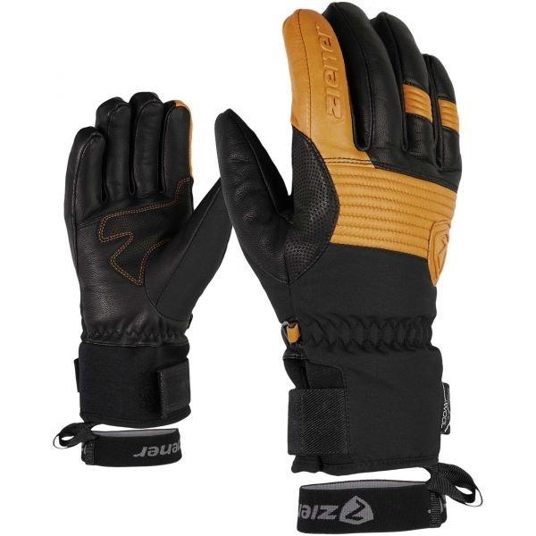 Černé pánské zimní rukavice Ziener - velikost 10,5