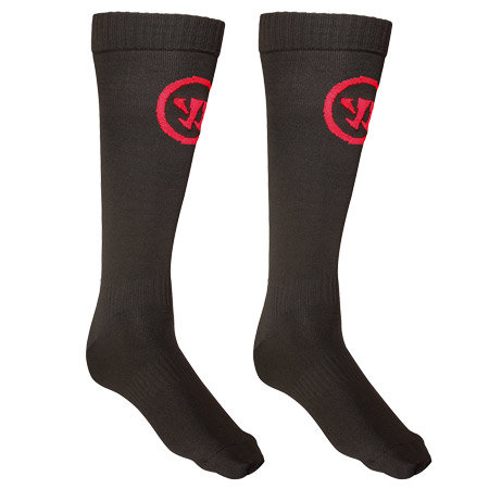 Černo-červené hokejové ponožky Warrior - velikost 48-51 EU