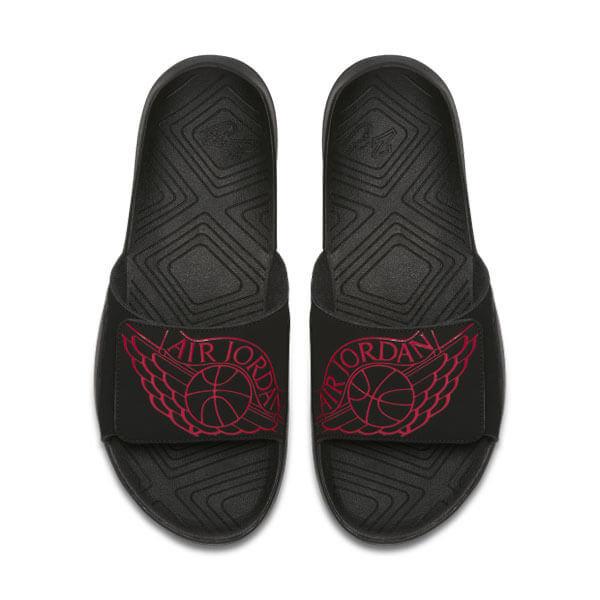 Černo-červené pánské pantofle Nike - velikost 40 EU