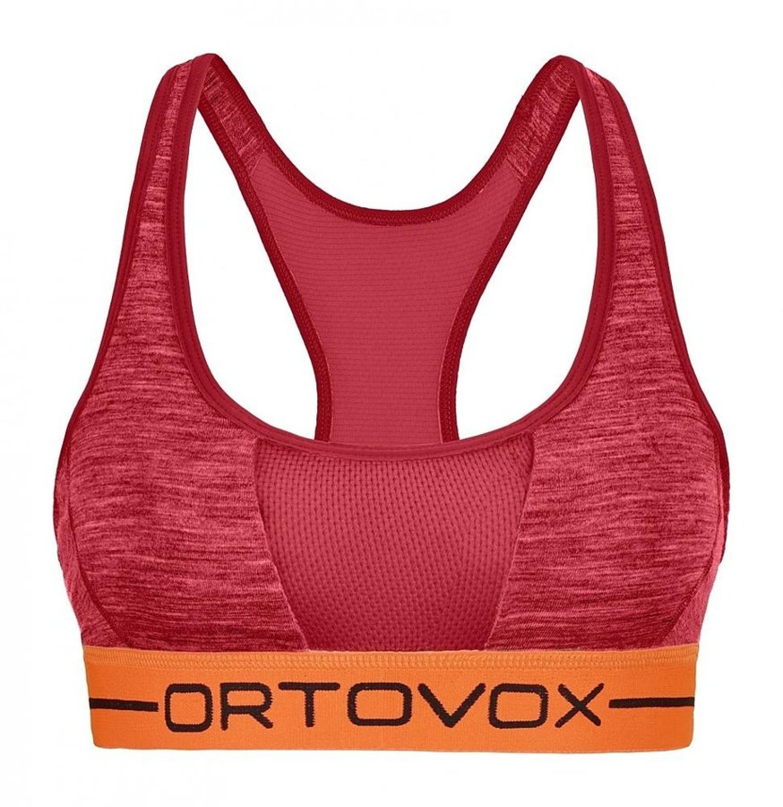 Červená sportovní dámská podprsenka Ortovox - velikost L