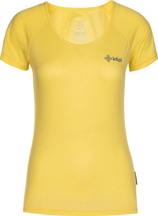 Žluté dámské běžecké tričko Kilpi