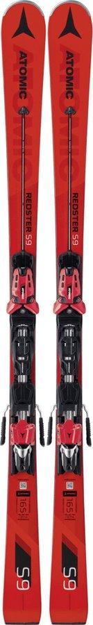 Červené lyže s vázáním Atomic - délka 171 cm
