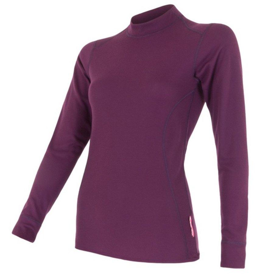 Fialové dámské tričko s dlouhým rukávem Sensor - velikost XL