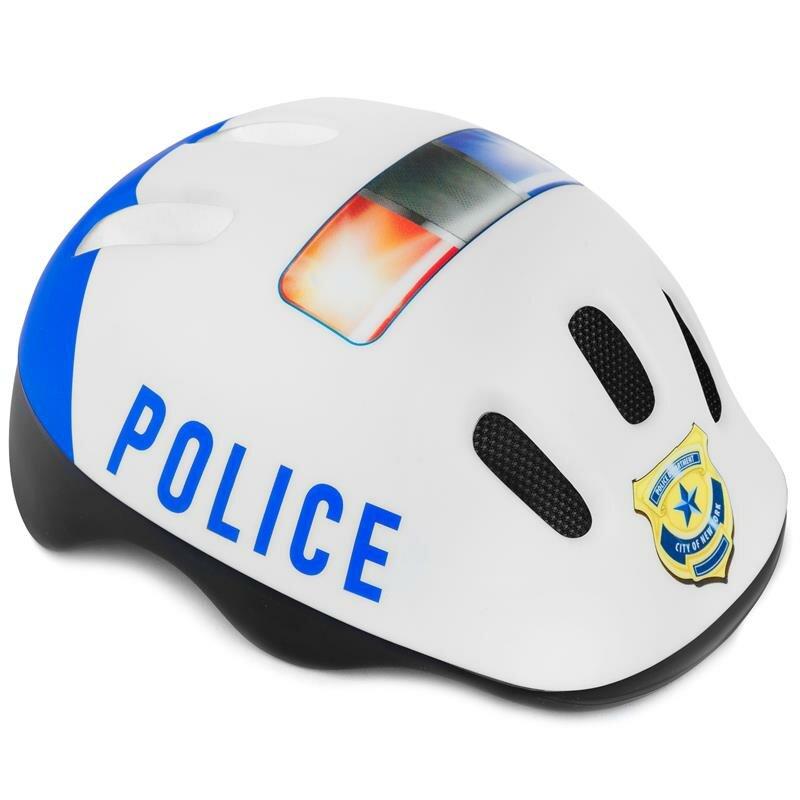 Bílá dětská cyklistická helma Spokey - velikost 44-48 cm