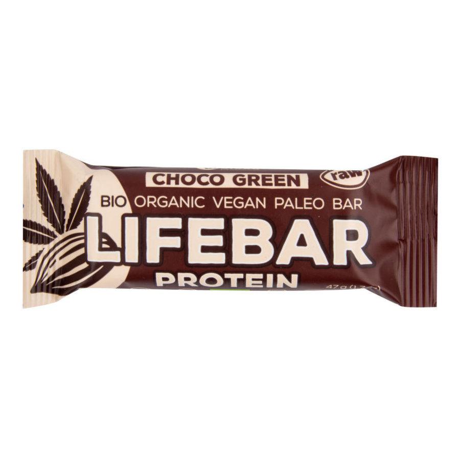Proteinová tyčinka - Lifefood Tyčinka Lifebar Plus čokoládová s proteinem BIO RAW 47 g