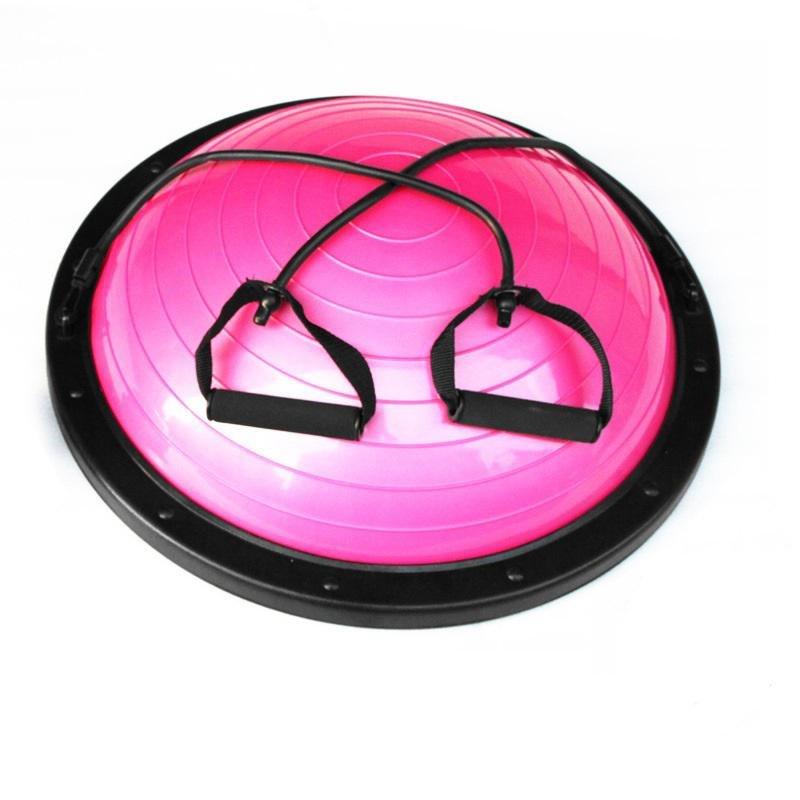 Růžová balanční podložka s gumovými expandéry Sedco