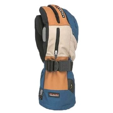 Béžovo-modré pánské lyžařské rukavice Level