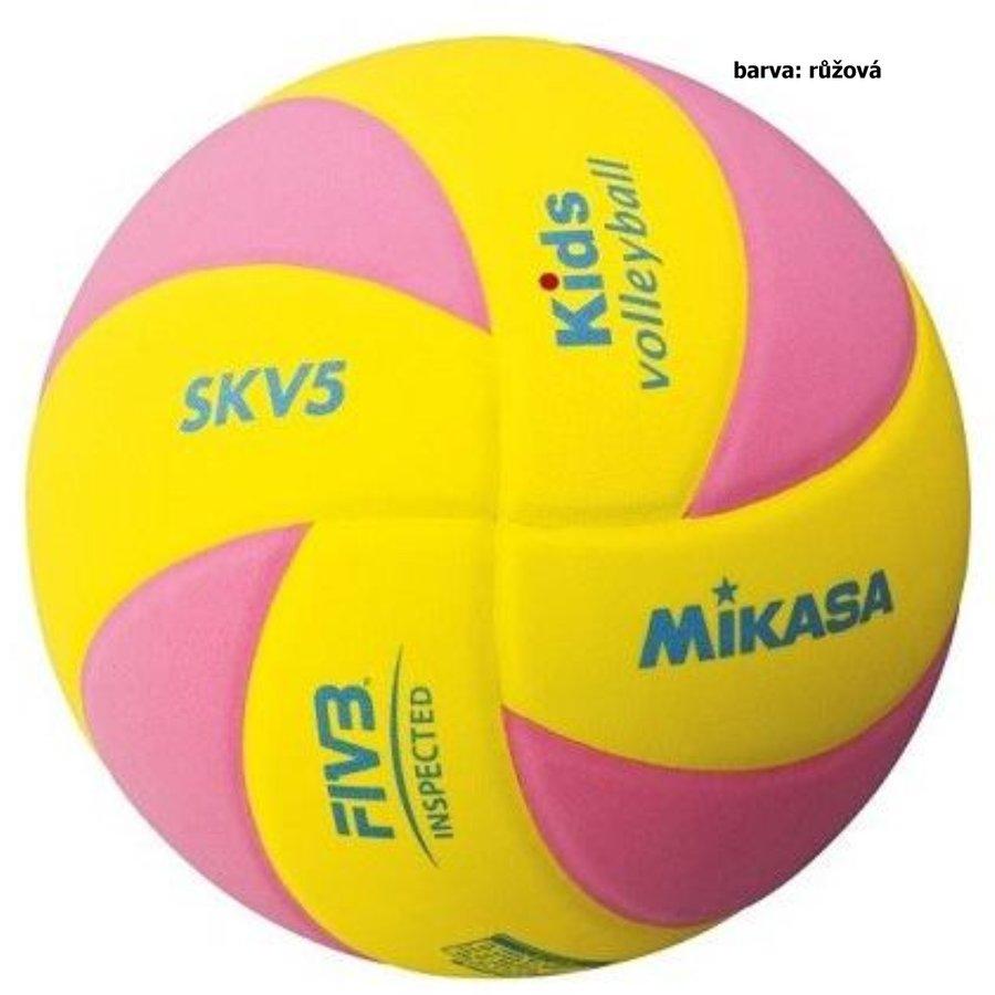 Volejbalový míč - Volejbalový míč MIKASA Kids SKV5 - růžový