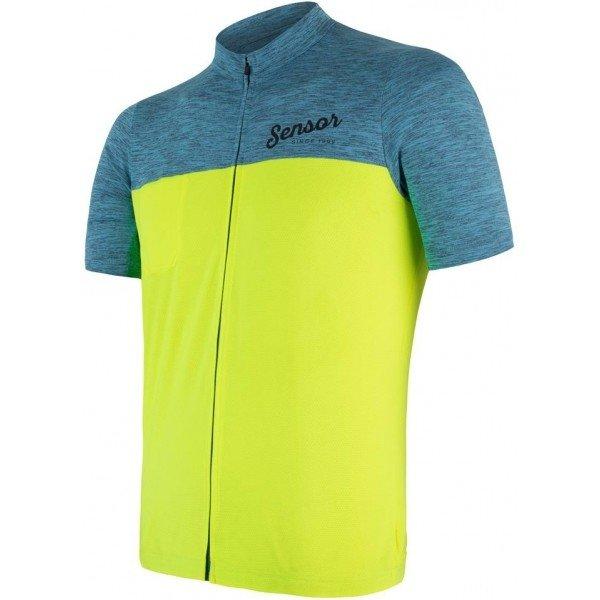 Modro-zelený pánský cyklistický dres Sensor