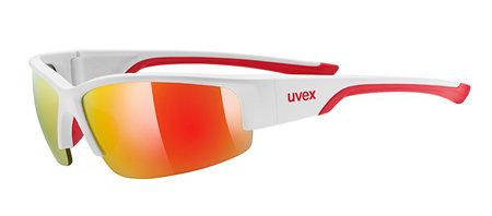 Bílo-červené cyklistické brýle Sportstyle, Uvex