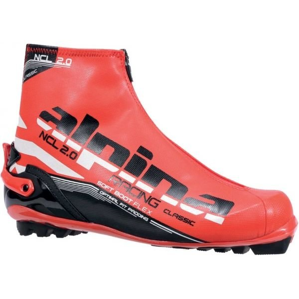 Růžové boty na běžky Alpina