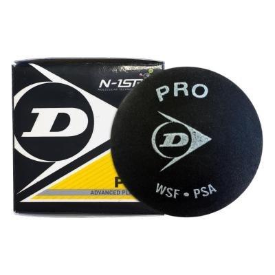"""Černý míček na squash """"dvojitá žlutá tečka"""" Dunlop - 1 ks"""