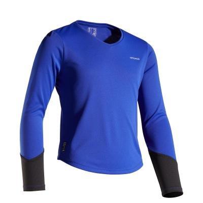 Modré dívčí tenisové tričko Artengo