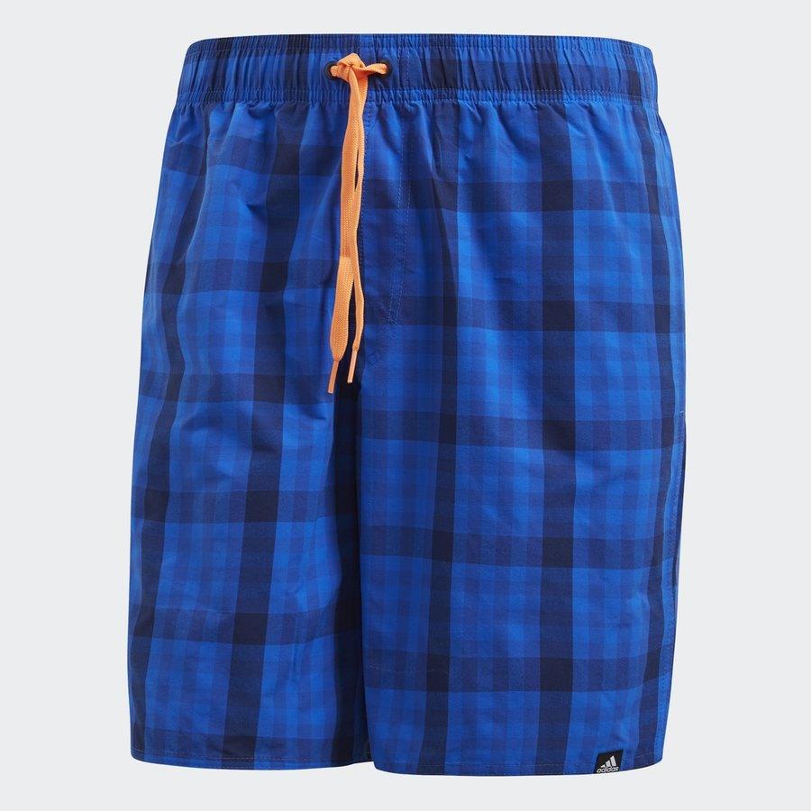 Modré pánské koupací kraťasy Check Sh Ml, Adidas - velikost S