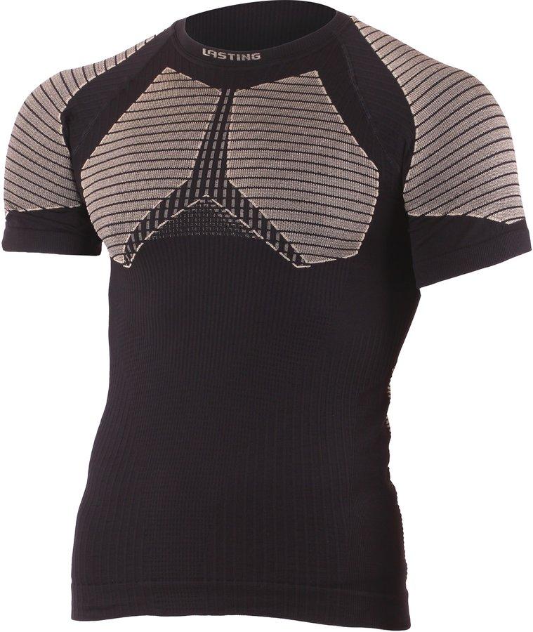 Černé pánské funkční tričko s krátkým rukávem Lasting - velikost S-M