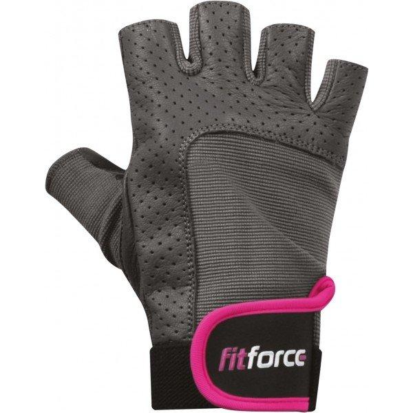 Šedé dámské fitness rukavice Fitforce