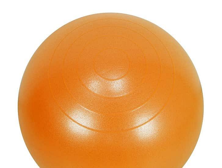 Oranžový skákací míč Lifefit - průměr 55  cm