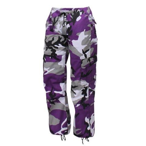 Kalhoty - Kalhoty dámské PARATROOPER VIOLET CAMO