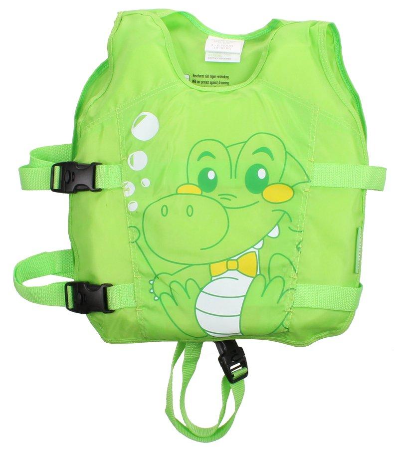 Zelená polyesterová dětská plavecká vesta Animal, Waimea - velikost 3-6 let