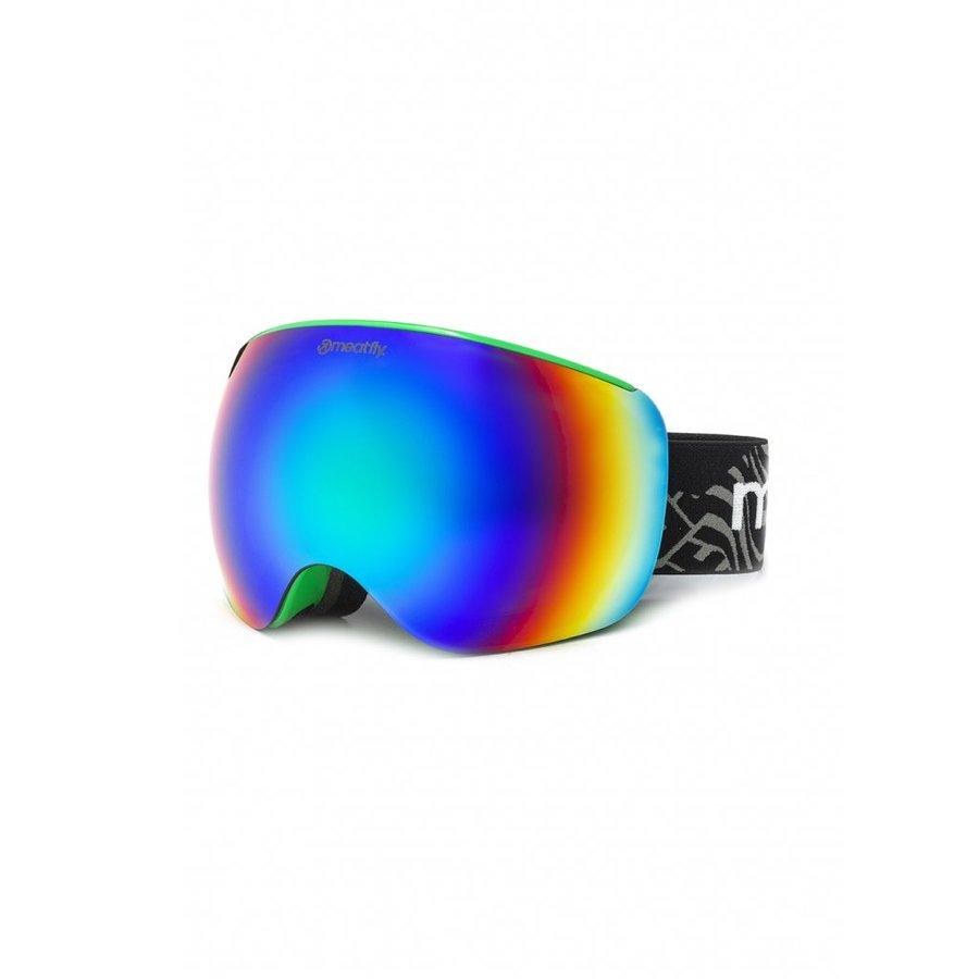 Brýle na snowboard - Meatfly Ekko XL Goggles D - Green Velikost: XL
