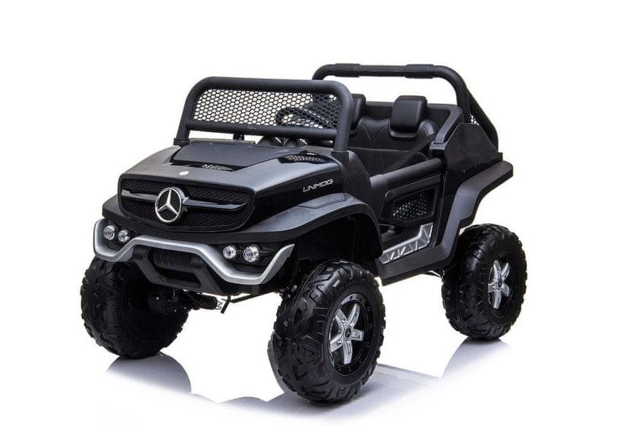Černé dětské elektrické autíčko Mercedes Unimog, Beneo