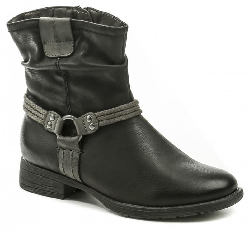 Černé dámské zimní boty - velikost 36 EU