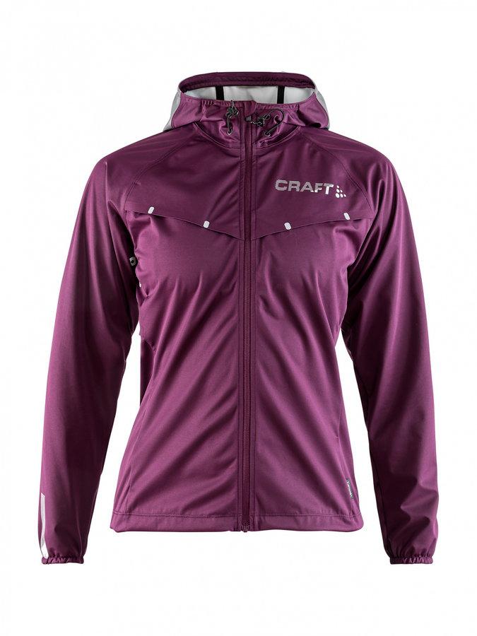 Fialová dámská běžecká bunda s kapucí Repel, Craft - velikost S