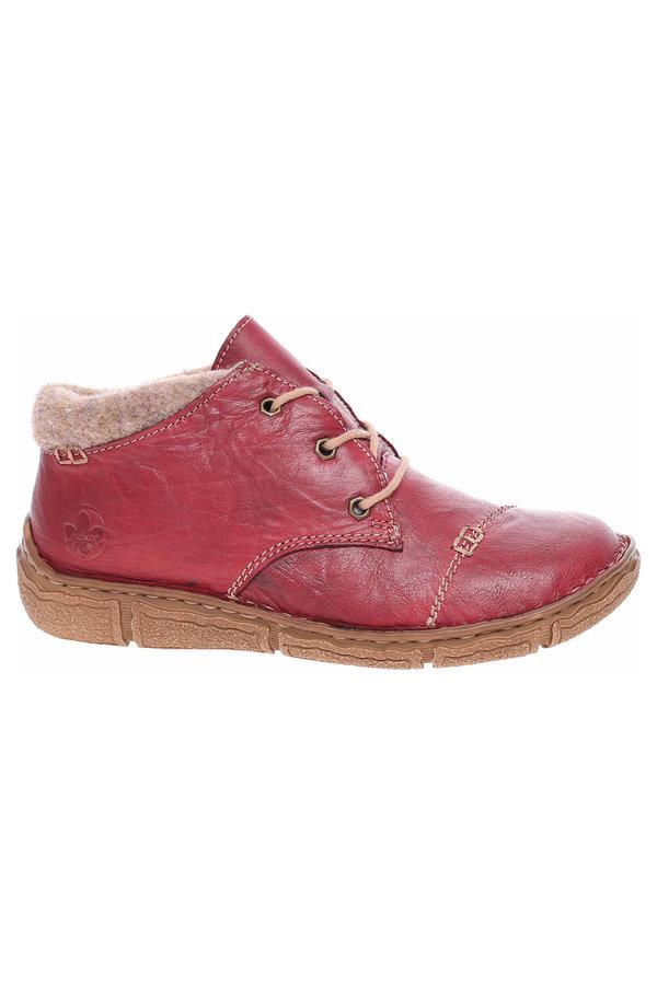 Červené dámské kotníkové boty Rieker - velikost 38 EU