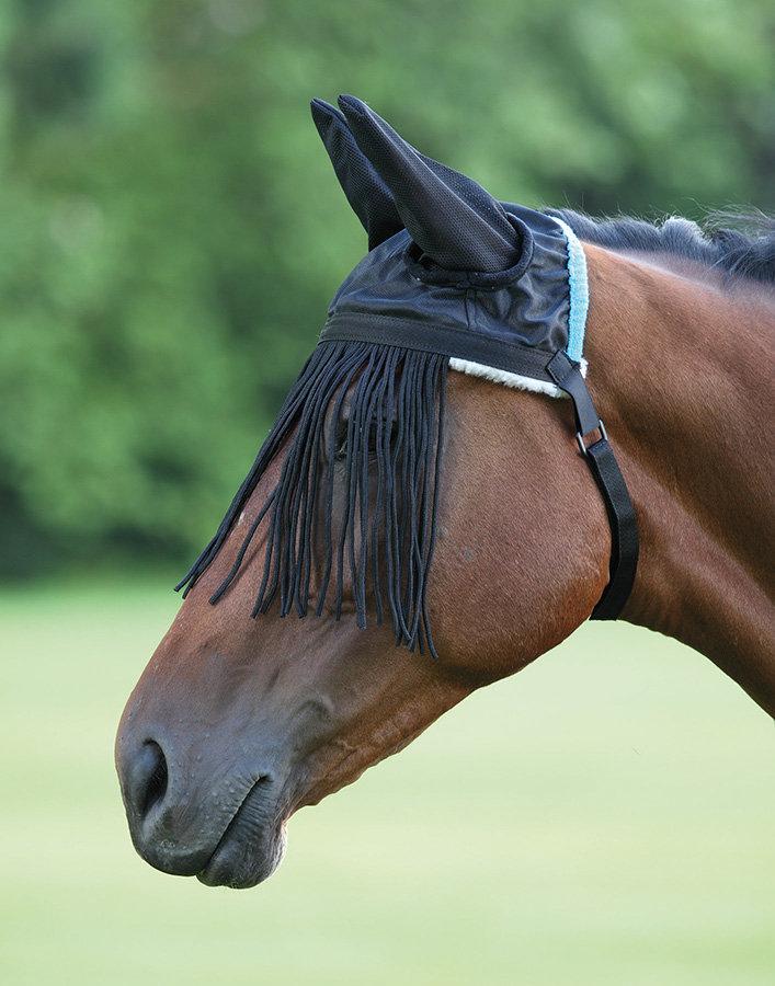 Černé třásně proti hmyzu Shires - pony