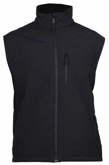 Černá softshellová pánská vesta Lambeste - velikost M