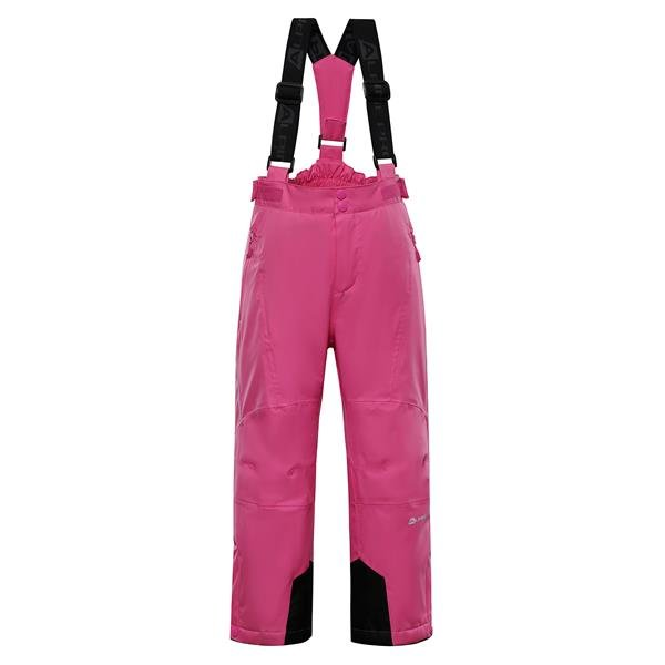 Růžové dívčí lyžařské kalhoty Alpine Pro - velikost 104-110