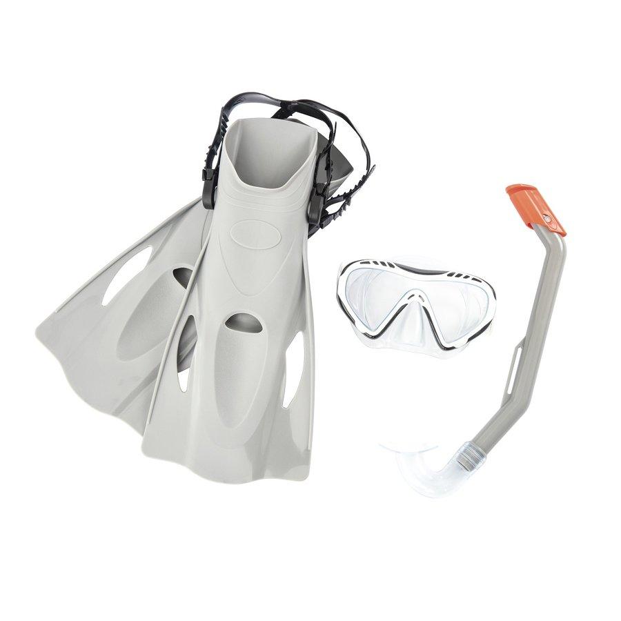 Potápěčská sada - Potápěčský set BESTWAY Hydro Swim 25025 s ploutvemi - šedý