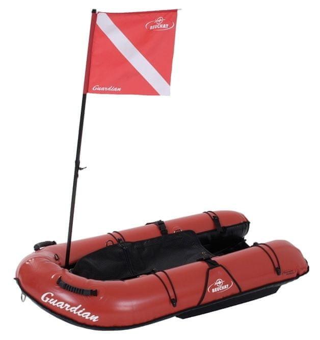 Červený nafukovací člun pro 1 osobu Beuchat