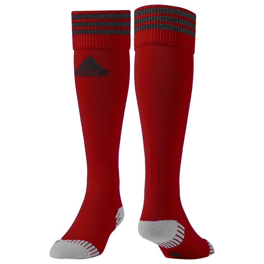Červené fotbalové štulpny Adisock 12, Adidas - velikost 34-36 EU