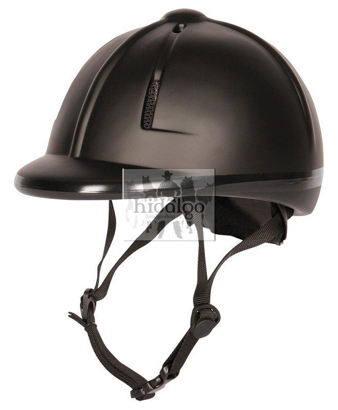 Černá jezdecká přilba