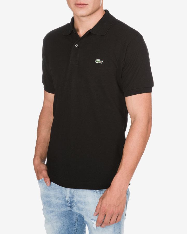 Černá pánská polokošile s krátkým rukávem Lacoste