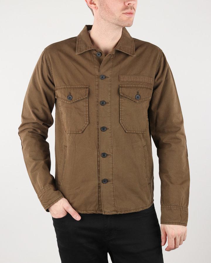 Hnědá pánská košile s dlouhým rukávem Wrangler