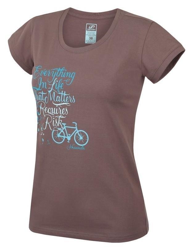 Hnědé dámské tričko s krátkým rukávem Hannah