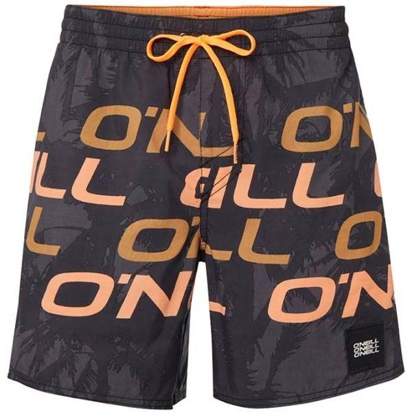 Černo-oranžové pánské koupací kraťasy O'Neill