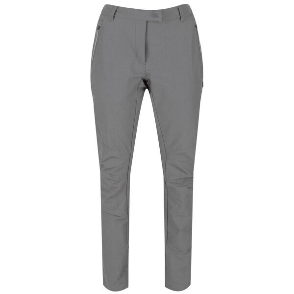 Šedé dámské turistické kalhoty Regatta - velikost 38