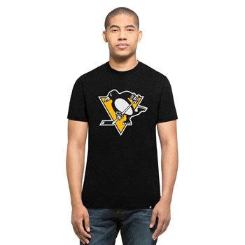"""Černé pánské tričko s krátkým rukávem """"Pittsburgh Penguins"""", 47 Brand - velikost XL"""