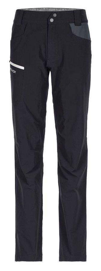 Černé softshellové dámské turistické kalhoty Ortovox