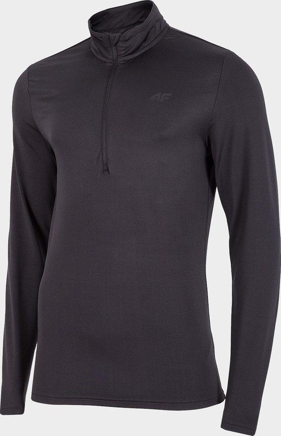 Černé pánské funkční tričko s dlouhým rukávem 4F - velikost 3XL