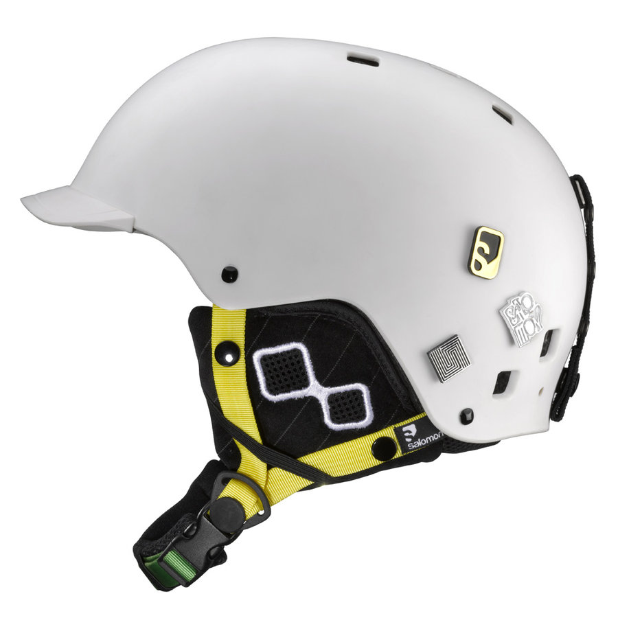 Bílá lyžařská helma Salomon - velikost 54-55 cm