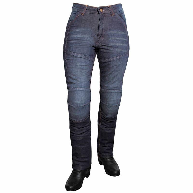 Modré dámské motorkářské kalhoty Aramid Lady, Roleff