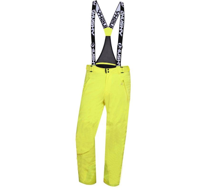 Žluté pánské lyžařské kalhoty Husky